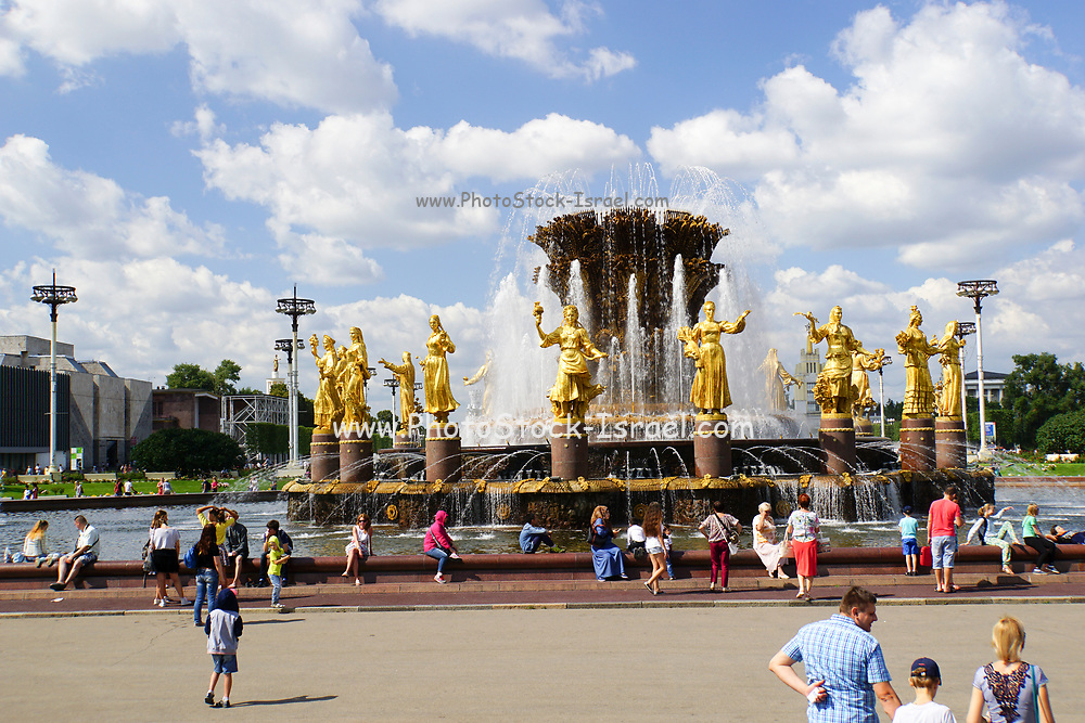 Friendship of Nations fountain, All Russia Exhibition Centre, Moscow, Russia