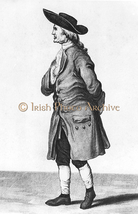 Henry Cavendish (1731-1810) English natural philosopher and chemist. Cavendish Physical Laboratory, Cambridge, named after him. Lithograph  published c 1851
