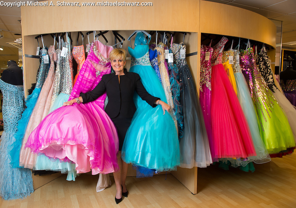 January 23, 2013. Atlanta.  Lori Allen, owner of Bridals by Lori.  Photo by Michael A. Schwarz
