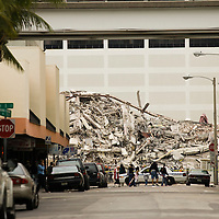 Demolition and implosion of the Everglades Hotel. Image from a series called Paradise Lost, the changing face of Downtown Miami.