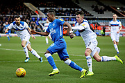 Peterborough Utd midfielder Siriki Dembélé (10) charges forward during the EFL Sky Bet League 1 match between Peterborough United and Rochdale at London Road, Peterborough, England on 12 January 2019.