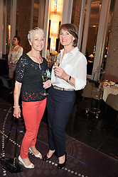 Left to right, JACKIE McKAY and LESLIE GALLACHER at a tea party to held at The Langham Hotel, Portland Place, London with tea inspired by Theo Fennell held on 25th April 2013.