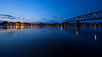Marietta, Ohio, and the Ohio River as seen from Williamstown, West Virginia