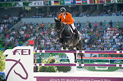 Jeroen Dubbeldam, (NED), Cortes C - Show Jumping Final Four - Alltech FEI World Equestrian Games™ 2014 - Normandy, France.<br /> © Hippo Foto Team - Jon Stroud<br /> 07/09/2014