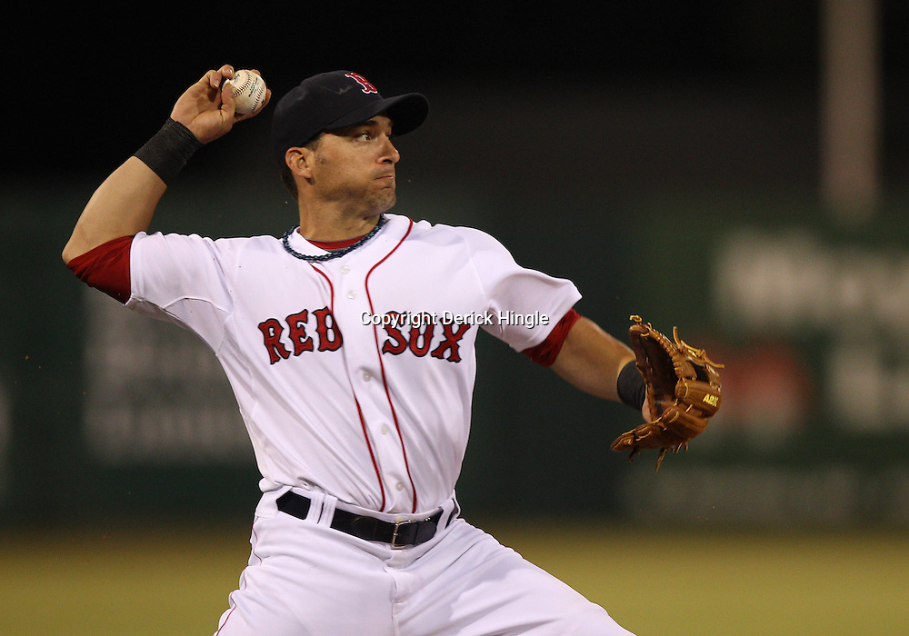 March 14, 2011; Fort Myers, FL, USA; Boston Red Sox shortstop Marco Scutaro (16) during a spring training exhibition game against the New York Yankees at City of Palms Park.   Mandatory Credit: Derick E. Hingle