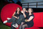 TRISHA JONES; RON ARAD; LEILA ARAD, The Summer Party. Serpentine Gallery. 8 July 2010. -DO NOT ARCHIVE-© Copyright Photograph by Dafydd Jones. 248 Clapham Rd. London SW9 0PZ. Tel 0207 820 0771. www.dafjones.com.
