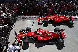 November 12, 2017 - Sao Paulo, Brazil - Motorsports: FIA Formula One World Championship 2017, Grand Prix of Brazil, ..#5 Sebastian Vettel (GER, Scuderia Ferrari), #7 Kimi Raikkonen (FIN, Scuderia Ferrari) (Credit Image: © Hoch Zwei via ZUMA Wire)