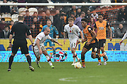 Hull City striker Chuba Akpom (19) during the Sky Bet Championship match between Hull City and Milton Keynes Dons at the KC Stadium, Kingston upon Hull, England on 12 March 2016. Photo by Ian Lyall.