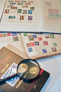 Israel Stamp collecting hobby with stamp catalogue