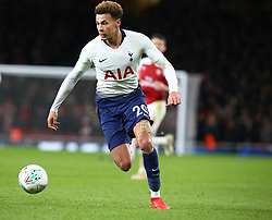 December 19, 2018 - London, England, United Kingdom - London, UK, 19 December, 2018.Tottenham Hotspur's Dele Alli.during Carabao Cup Quarter - Final between Arsenal and Tottenham Hotspur  at Emirates stadium , London, England on 19 Dec 2018. (Credit Image: © Action Foto Sport/NurPhoto via ZUMA Press)