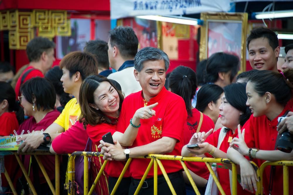 City officials enjoy Chinese New Year, Bangkok, Thailand.