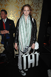Model LILY COLE in the Moet & Chandon Room at British Fashion Week at the Natural History Museum on 14th February 2007.<br /><br />NON EXCLUSIVE - WORLD RIGHTS