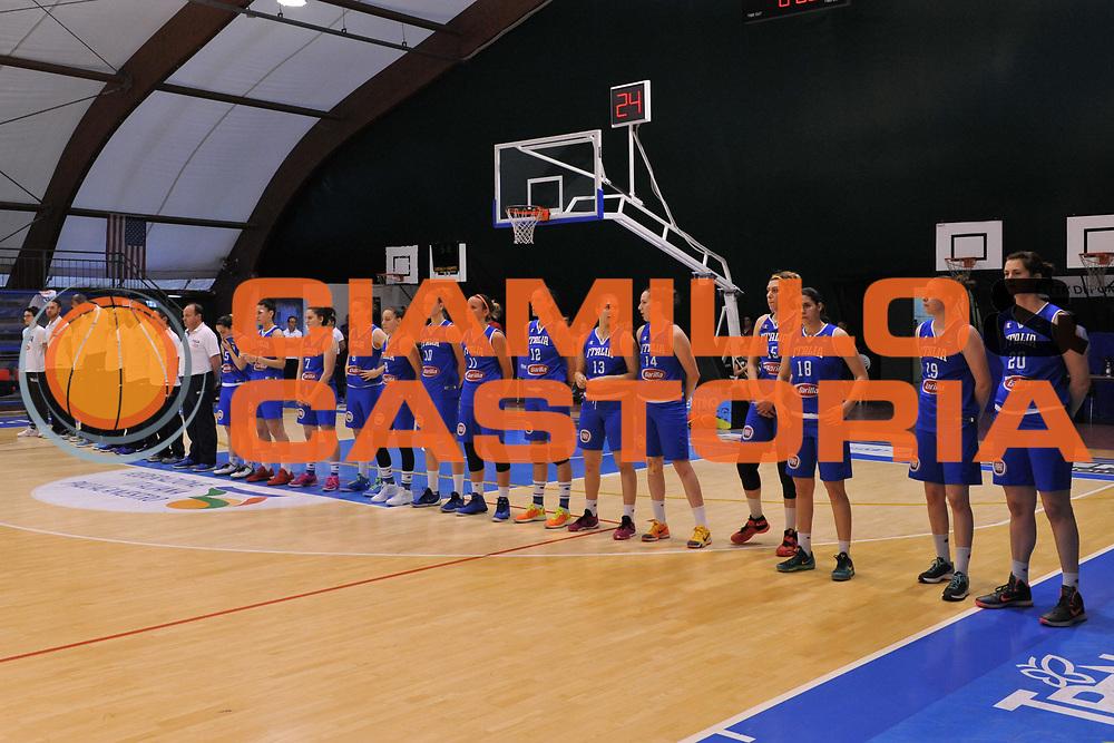 Roma 03.06.2016<br /> Basket Nazionale Italiana Femminile<br /> Torneo  Internazionale di Pomezia<br /> <br /> Italia - Camerun<br /> <br /> Nella foto: Nazionale Italiana
