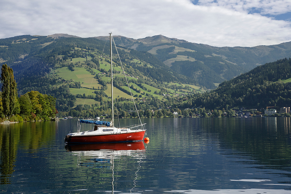 A boat on Zeller See, Zell Am see, Austria