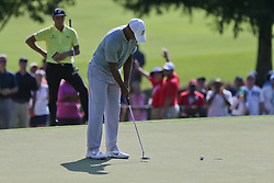 September 21, 2018 - Atlanta, Georgia, United States - Tiger Woods putts the green during the second round of the 2018 TOUR Championship. (Credit Image: © Debby Wong/ZUMA Wire)