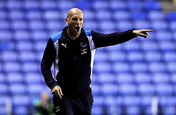 An angry looking Jaap Stam manager of Reading gives instructions to his players during the preseason friendly against Bournemouth ahead of The Sky Bet Championship season - Mandatory by-line: Robbie Stephenson/JMP - 29/07/2016 - FOOTBALL - Madejski Stadium - Reading, England - Reading v AFC Bournemouth - Pre-season friendly