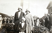 mother with friend and child posing England 1920s