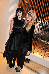 Left to right, ANNABELLE NEILSON and LADY MARY FURZE at the Salvatore Ferragamo Old Bond Street Boutique Store Launch on 5th December 2012.
