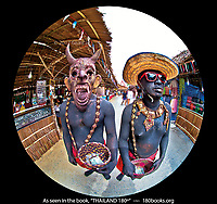 Actors portraying prets, aka, Hungry Ghost in Nakhorn Si Thammarat