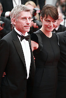 Jacques Gamblin and Marianne Denicourt at Jimmy's Hall gala screening red carpet at the 67th Cannes Film Festival France. Thursday 22nd May 2014 in Cannes Film Festival, France.