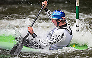 Mike Dawson in action in the mens K1 final, NZ Open kayaking, Managhao, New Zealand. Sunday, January 22, 2017. Copyright photo: John Cowpland / www.photosport.nz