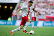 Poland's Robert Lewandowski in action during international friendly match between Poland and Lithuania at PGE Arena in Gdansk, Poland.<br /> <br /> Poland, Gdansk, June 06, 2014<br /> <br /> Picture also available in RAW (NEF) or TIFF format on special request.<br /> <br /> For editorial use only. Any commercial or promotional use requires permission.<br /> <br /> Mandatory credit:<br /> Photo by &copy; Adam Nurkiewicz / Mediasport