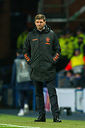 Steven Gerrard, manager of Rangers FC during the Europa League Group G match between Rangers FC and BSC Young Boys at Ibrox Park, Glasgow, Scotland on 12 December 2019.
