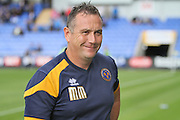 Shrewsbury Town FC manager Micky Mellon  before the EFL Sky Bet League 1 match between Shrewsbury Town and Chesterfield at Greenhous Meadow, Shrewsbury, England on 20 August 2016. Photo by Nigel Cole.