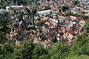 Blick auf die Altstadt von der Ruine Starkenburg, Heppenheim, Bergstraße, Hessen, Deutschland   Overlooking the historic center of the ruins Starkenburg, Heppenheim, Bergstraße, Hesse, Germany