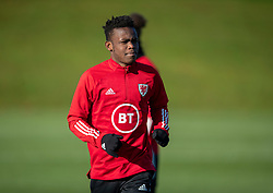 CARDIFF, WALES - Monday, November 18, 2019: Wales' Rabbi Matondo during a training session at the Vale Resort ahead of the final UEFA Euro 2020 Qualifying Group E match against Hungary. (Pic by David Rawcliffe/Propaganda)