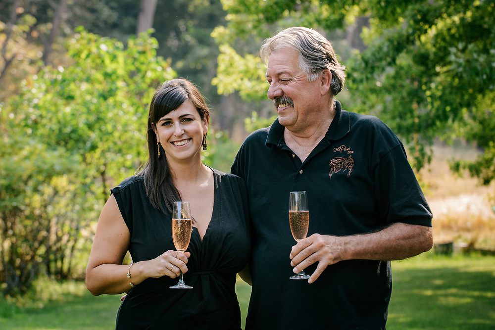 Sierra Wright with her father Lonnie Wright of The Pines 1852 Winery and Vineyard.