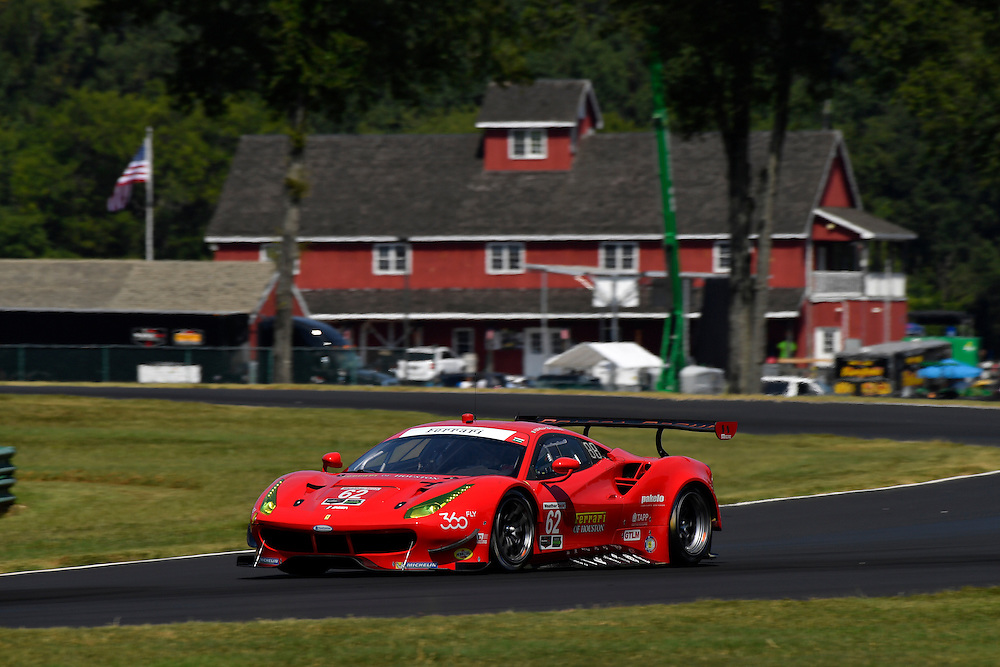 26-28 August, 2016, Alton, Virginia USA<br /> 62, Ferrari, F488 GTE, GTLM, Giancarlo Fisichella, Toni Vilander<br /> &copy;2016, Scott R LePage <br /> LAT Photo USA
