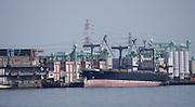 Ferry taking sightseers across Nagoya Port.