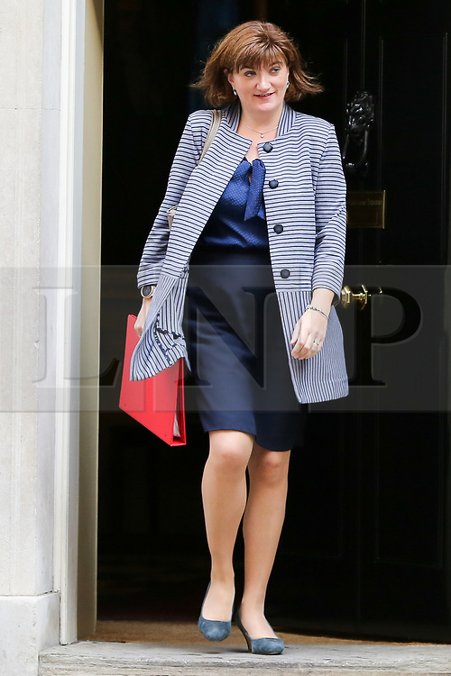 © Licensed to London News Pictures. 10/09/2019. London, UK. Secretary of State for Digital, Culture, Media and Sport NICKY MORGAN departs from No 10 Downing Street after attending the weekly Cabinet Meeting. Photo credit: Dinendra Haria/LNP