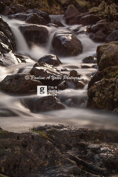 5 second exposure using ND110. A small, rocky river in Watendlath Valley, Keswick, Lake District, England