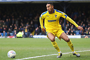 AFC Wimbledon defender Terell Thomas (6) just keeping the ball in play during the EFL Sky Bet League 1 match between Southend United and AFC Wimbledon at Roots Hall, Southend, England on 16 March 2019.