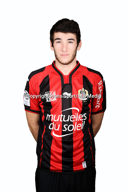Gautier LLORIS - 01.10.2014 - Portrait Officiel Nice -<br /> Photo : Alexandre DEBBACHE / Nice / Icon Sport