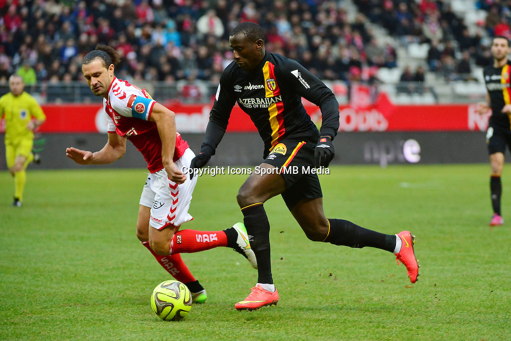 Adamo COULIBALY / Mickael TACALFRED - 25.01.2015 - Reims / Lens  - 22eme journee de Ligue1<br />Photo : Dave Winter / Icon Sport