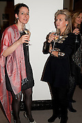 JANA SCHOLZE; VICKY BROAKES,Outset dinner 2011.  Organised by Yana Peel supported by Swarovskito raise funds for the V+A to starts its contemporary design collection. V & A. London. 23 March 2011. -DO NOT ARCHIVE-© Copyright Photograph by Dafydd Jones. 248 Clapham Rd. London SW9 0PZ. Tel 0207 820 0771. www.dafjones.com.
