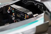 February 26-28, 2015: Formula 1 Pre-season testing Barcelona : Lewis Hamilton (GBR), Mercedes steering wheel