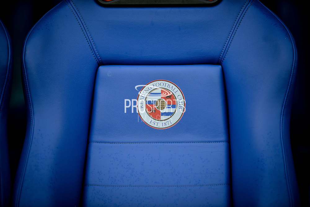 Home dugout seat before the EFL Sky Bet Championship match between Reading and Ipswich Town at the Madejski Stadium, Reading, England on 9 September 2016. Photo by Adam Rivers.