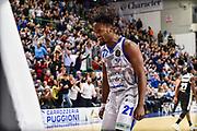 Dyshawn Pierre<br /> Banco di Sardegna Dinamo Sassari - Segafredo Virtus Bologna<br /> Legabasket LBA Serie A 2019-2020<br /> Sassari, 22/12/2019<br /> Foto L.Canu / Ciamillo-Castoria
