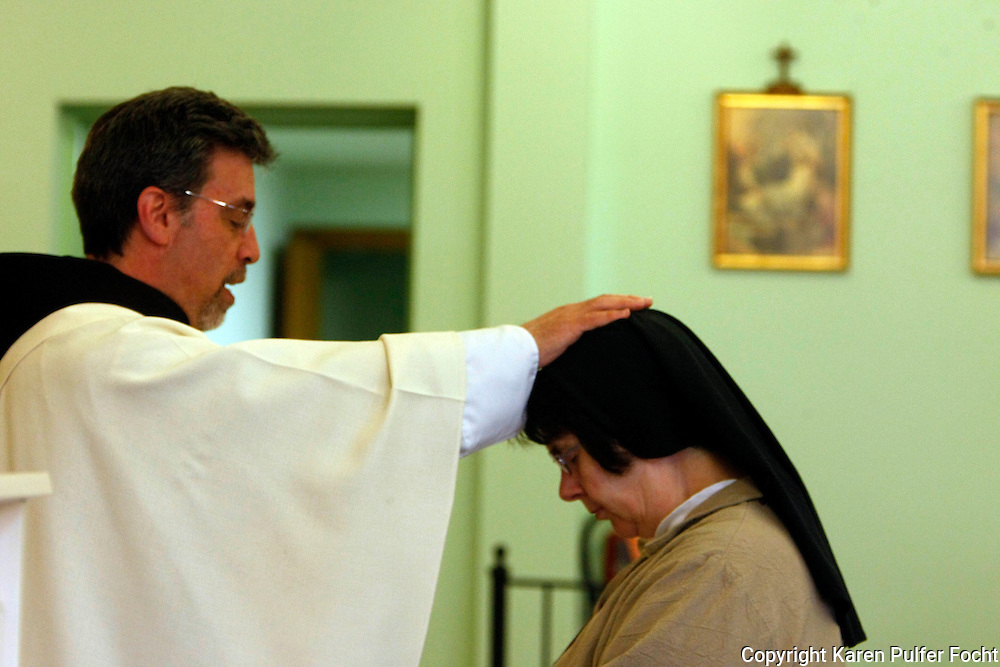 Sister Anthony, a cloistered Poor Clare Nun from Memphis, Tennessee, celebrates 25 years as a nun. The number of Poor Clare nuns in Memphis is dwindling. They are a community of Catholic women who have chosen to embrace the way of life proposed by a young Italian girl in Assisi over 800 years ago.