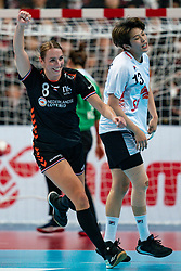 11-12-2019 JAP: Netherlands - Korea, Kumamoto<br /> Last match Main Round Group1 at 24th IHF Women's Handball World Championship, Netherlands win the last match against Korea with 36 - 24. / Lois Abbingh #8 of Netherlands