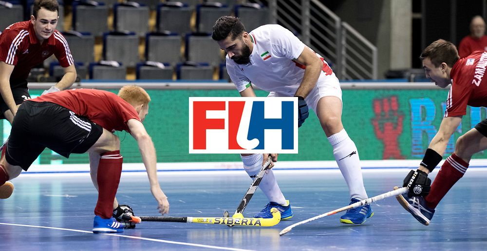 BERLIN - Indoor Hockey World Cup<br /> Men: Iran - Russia<br /> foto: TAHERIRAD Navid.<br /> WORLDSPORTPICS COPYRIGHT FRANK UIJLENBROEK