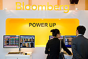 Demonstration of Bloomberg terminals before Bloomberg Forum 'Green Evolution: China and the Global New Energy Race', at USA Pavilion, in Shanghai World Expo 2010, China, on October 21, 2010. Photo by Lucas Schifres/Pictobank
