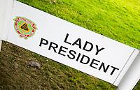 HOLYWOOD - Holywood GC (Noord Ierland) - parkeren Lady President. , voorzitter.  COPYRIGHT KOEN SUYK
