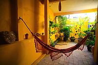 hammock in patio in the hotel in brazil