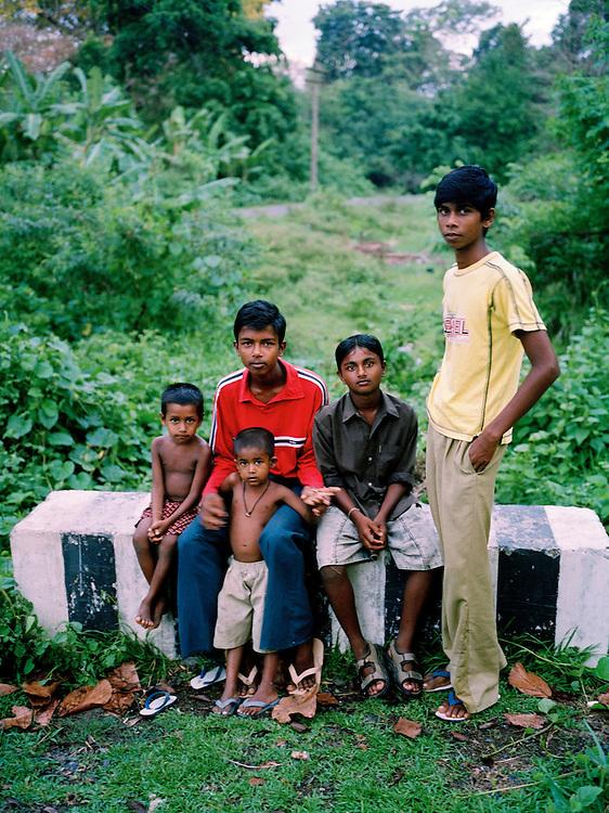 Group of boys, North Andaman Island