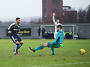 Dundee&rsquo;s Kane Hemmings nets only for the goal to be disallowed for offside - Dumbarton v Dundee, William Hill Scottish Cup fifth round at The Cheaper Insurance Direct Stadium <br /> <br />  - &copy; David Young - www.davidyoungphoto.co.uk - email: davidyoungphoto@gmail.com